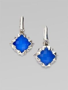 Stephen Webster Blue Agate, Clear Quartz, Sterling Silver & 14K White Gold Earrings at London Jewelers! by chelsea