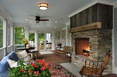 Back porch idea...traditional porch by Crisp Architects