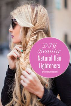 Tips for Natural DIY Hair Highlighters {love these}