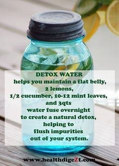 Detox water. Not sure about the flat belly claim other than the fact mint helps .... >>> Take a look at more at the picture link