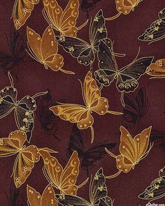 Fancy Flight - Cloisonné Butterflies - Chocolate Brown/Gold