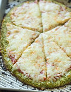 Broccoli Crust Pizza (Low-carb, Gluten free) | Gimme Delicious