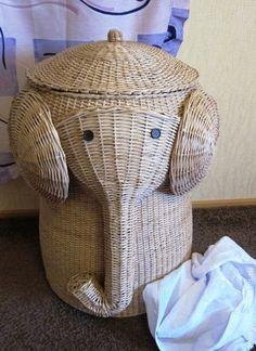 Корзины, коробы ручной работы. Ярмарка Мастеров - ручная работа плетеная корзина для белья Слон. Handmade.