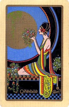 Frederick Little Packer (1886-1956) - Art Deco 1920s playing card