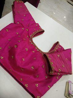 Simple minimal embroidered blouse