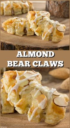 Bear Claws Almond Bear Claws are a bakery favorite that are un-BEAR-ably good, and now you can make them at home!Almond Bear Claws are a bakery favorite that are un-BEAR-ably good, and now you can make them at home! Puff Pastry Desserts, Puff Pastry Recipes, Puff Pastries, Choux Pastry, Shortcrust Pastry, Pastries Recipes, Frozen Puff Pastry, Bread And Pastries, Almond Recipes