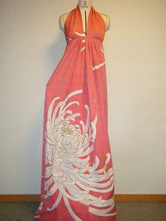 Halter-neck maxi dress | by yukarma