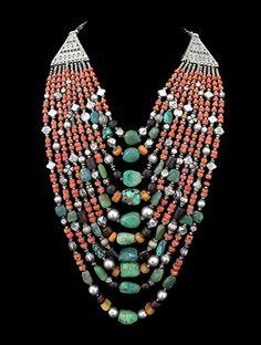 Multi-Strand Ladakh Necklace from India