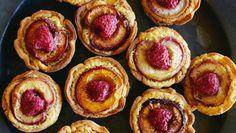 Nectarine and raspberry frangipane tarts - Put a twist on this classic French dessert with fresh nectarines.