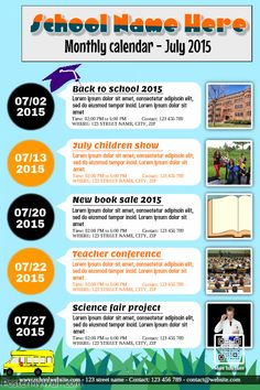 Photo Collage Poster Template For Kids Schools And Families Http