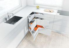 Keukenkast in de hoek