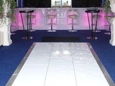 White Dance Floor Hire Interlocking Panels