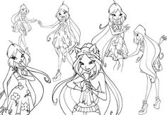 Style Flora Winx Club Coloring Pages