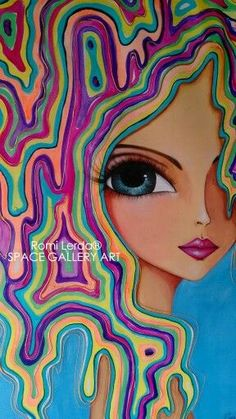 ROMI LERDA. ARTISTA PLÁSTICA ARGENTINA: Art Pop, Art And Illustration, Abstract Faces, Eye Art, Art Plastique, Medium Art, Oeuvre D'art, Rock Art, Art Girl