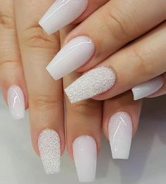 Nail art is a very popular trend these days and every woman you meet seems to have beautiful nails. It used to be that women would just go get a manicure or pedicure to get their nails trimmed and shaped with just a few coats of plain nail polish. New Year's Nails, Nails For New Years, S And S Nails, Best Acrylic Nails, Ballerina Acrylic Nails, Winter Acrylic Nails, Dream Nails, Nagel Gel, Gorgeous Nails