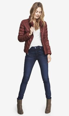 A warm, puffy jacket from @ExpressLife is the perfect way to warm up for fall! #ShopBayPlaza