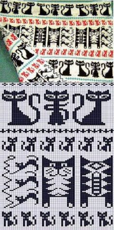 cat pattern for crochet, knit or embroidery - seen on jacquard, ornament . cat pattern for crochet, knit or embroidery - seen on jacquard, cat seal STEP-BY-STEP INSTRUCTIONS and PHOTOS to Knit a . Fair Isle Knitting Patterns, Fair Isle Pattern, Knitting Charts, Knitting Stitches, Knitting Socks, Knitting Machine, Free Knitting, Crochet Cat Pattern, Crochet Patterns