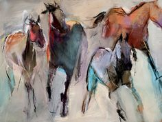 """Four Winds"" Dawn Emerson. 30 x 40 Watercolor Horse, Watercolor Drawing, Watercolor Animals, Painted Horses, Horse Sculpture, Animal Sculptures, Horse Drawings, Art Drawings, Horse Artwork"