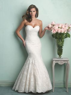 Allure Bridals Fall 2014 Collection | Style 9169  Wedding Dress Vintage Wedding Dresses mermaid lace wedding dresses