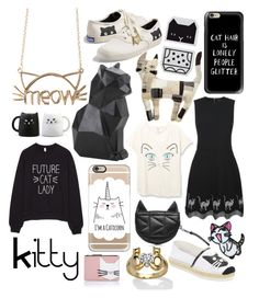 """""""Kitty"""" by xoxo-camellia ❤ liked on Polyvore featuring PyroPet, Keds, Casetify, Markus Lupfer, Karl Lagerfeld and Palm Beach Jewelry"""