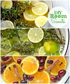 DIY Room Scents Make your home smell like William-Sonoma, Mint Lime, and Christmas! All natural.