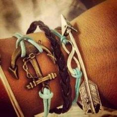 Anchor, Infinity, Arrow Braclets.