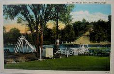 Vintage Postcard - Big Rapids, Michigan by buzzybea on Etsy