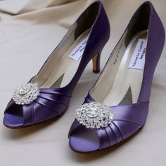 Dark Lavender Wedding Shoes Low Heel - Wide wedding shoes - Many colors