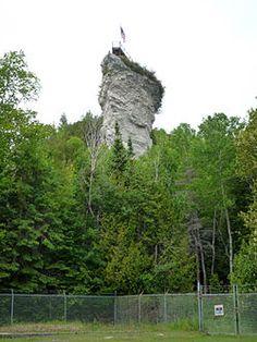 Castle Rock -- 3 miles north of St. Ignace, Michigan on I-75 in the U.P.