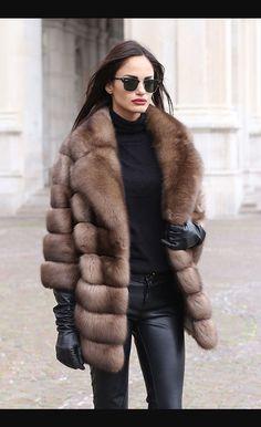 Mc - levitas Gaspar piel marrones o abrigo bis & total negro con botines