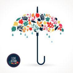 꽃 우산 일러스트 : 네이버 블로그