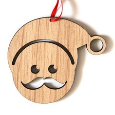 Santa Recycled Wood Christmas Decoration by Scoop Designs