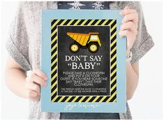 Instant 'DON'T SAY BABY' Baby Shower Printable by JoJoMiMi on Etsy