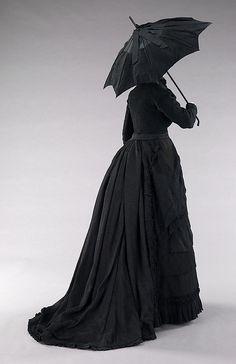 Mourning ensemble Date: ca. 1870 Culture: American Medium: silk