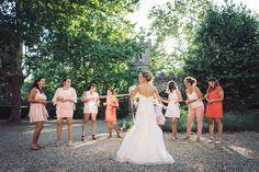 Idée originale pour lancer le bouquet de mariée: Les rubans à découper
