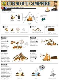 Cub Scout: How to Build a Campfire