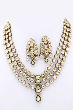 Antique Kundan Polki Jewellery Designs - love this one