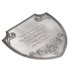 Personalised Grand Cru Champagne with Engraved Pewter Champagne Label