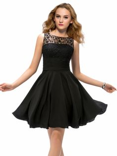 First-Class Jewel A Line Lace Short Cocktail Dress