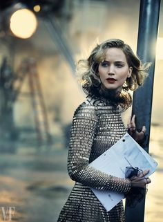 Jennifer Lawrence In Valentino by Peter Lindbergh.