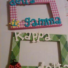 #DIY sorority frames #deltagamma #kappadelta