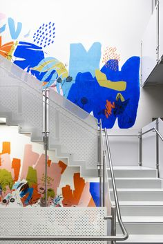 Creating A Neuro-Diverse Lens For Workplace Design - Decoration Office Wall Design, Office Mural, Environmental Graphics, Environmental Design, Mural Wall Art, Mural Painting, Corporate Interiors, Office Interiors, Office Branding