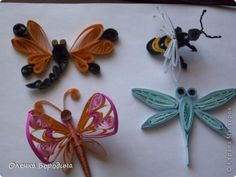 Quilled Dragonflies, Bee and Butterflies