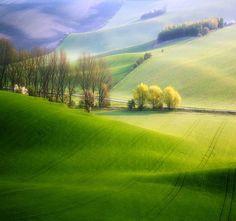 Serene Beauty of Moravia, Czech Republic. Moravian Fields, Photos by Krzysztof Browko #travel #czech #countryside