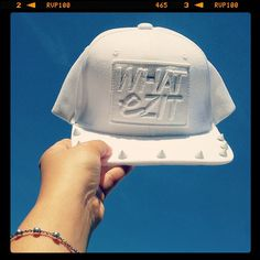 This white #snapback sits like a fluffy cloud on the sea of blue sky! Daydream all you want. #wearit #wearitloveit #whatezitny #brooklyn #fashion #we #white #studs #styling #instagood #instadaily #instamood