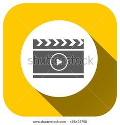 film vector icon, Cinema  symbol for your design, logo, application, UI, website - stock vector