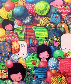 Grafite colorido do artista baiano Tomaz Viana (Toz) | Hobby Decor | hobbydecor