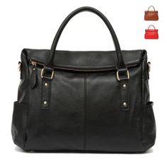 OL-Style-Genuine-Cow-leather-Lady-Woman-Shoulder-Tote-Bag-Purse-Hobo-Satchel