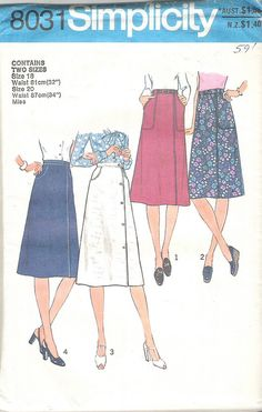 1970's Sewing Pattern  Simplicity 8031 Front by jennylouvintage