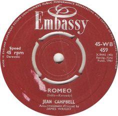 45-WB 459. Romeo. Jean Campbell. 45.
